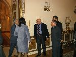 Greeting ceremony Romanian Presidency 2004